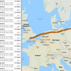 Маршрут до Лондона на карте Google